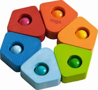 "Haba grasping toy ""blur of colour"" - Haba grasping toy ""blur of colour"" – This toy will put a smile on your child's face."