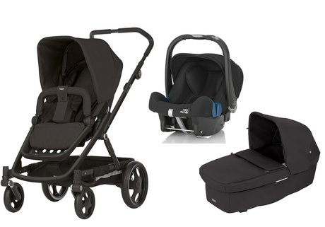 Britax Römer GO incl. GO carrycot attachment + infant carrier Safe Plus SHR II Cosmos Black 2017 - large image