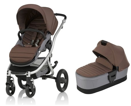 Britax Römer AFFINITY 2 inkl. Colour Pack + Kinderwagen-Aufsatz Wood Brown 2017 - Großbild