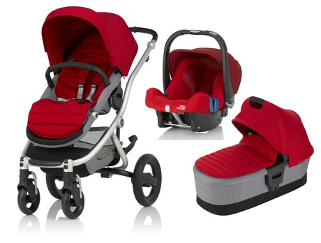 Britax Römer AFFINITY 2 incl. Colour Pack + Carrycot Attachment + infant carrier Safe Plus SHR II Flame Red 2017 - large image