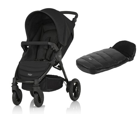 Детская коляска Britax B-Motion 4 + Конверт для ног Shiny Cosytoes Cosmos Black 2017 - большое изображение