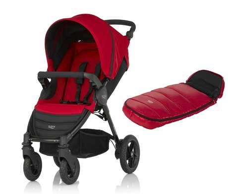 B-Motion 4 Britax incl. folgo Shiny Cosytoes Flame Red 2016 - Imagen grande