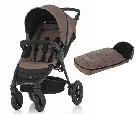 Britax B-Motion 4 inkl. Fußsack Shiny Cosytoes Wood Brown 2017 - Großbild