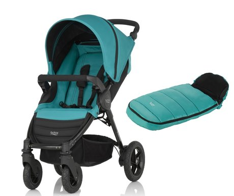 Britax B-Motion 4 вкл. конверт  Shiny Cosytoes Lagoon Green 2018 - большое изображение