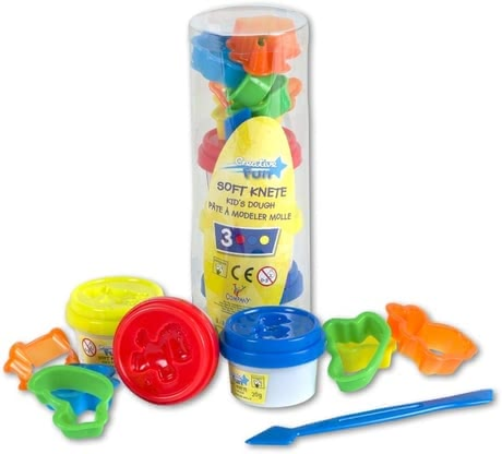 Mini Play dough set with accessories - Mini Play dough set with accessories – The three-colored Play dough set with accessories will awaken your little one's creativity.
