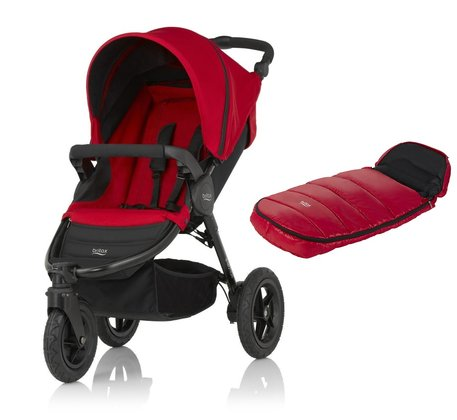 Britax B-Motion 3 inkl. Fußsack Shiny Cosytoes Flame Red 2018 - Großbild