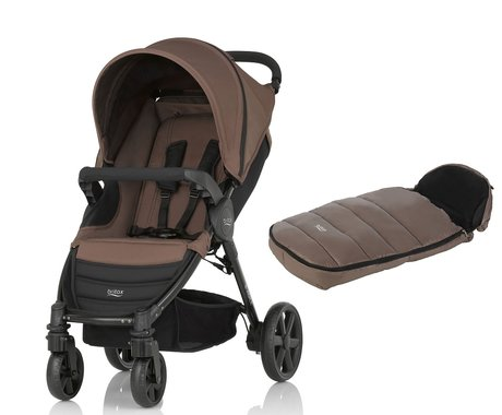 Britax B-Agile 4 incl. foot muff Shiny Cosytoes Wood Brown 2016 - large image