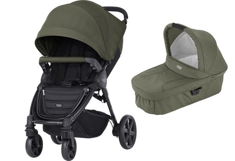 Britax B-Agile 4 Plus incl. Canopy Pack + nacelle Olive Green 2017 - Image de grande taille