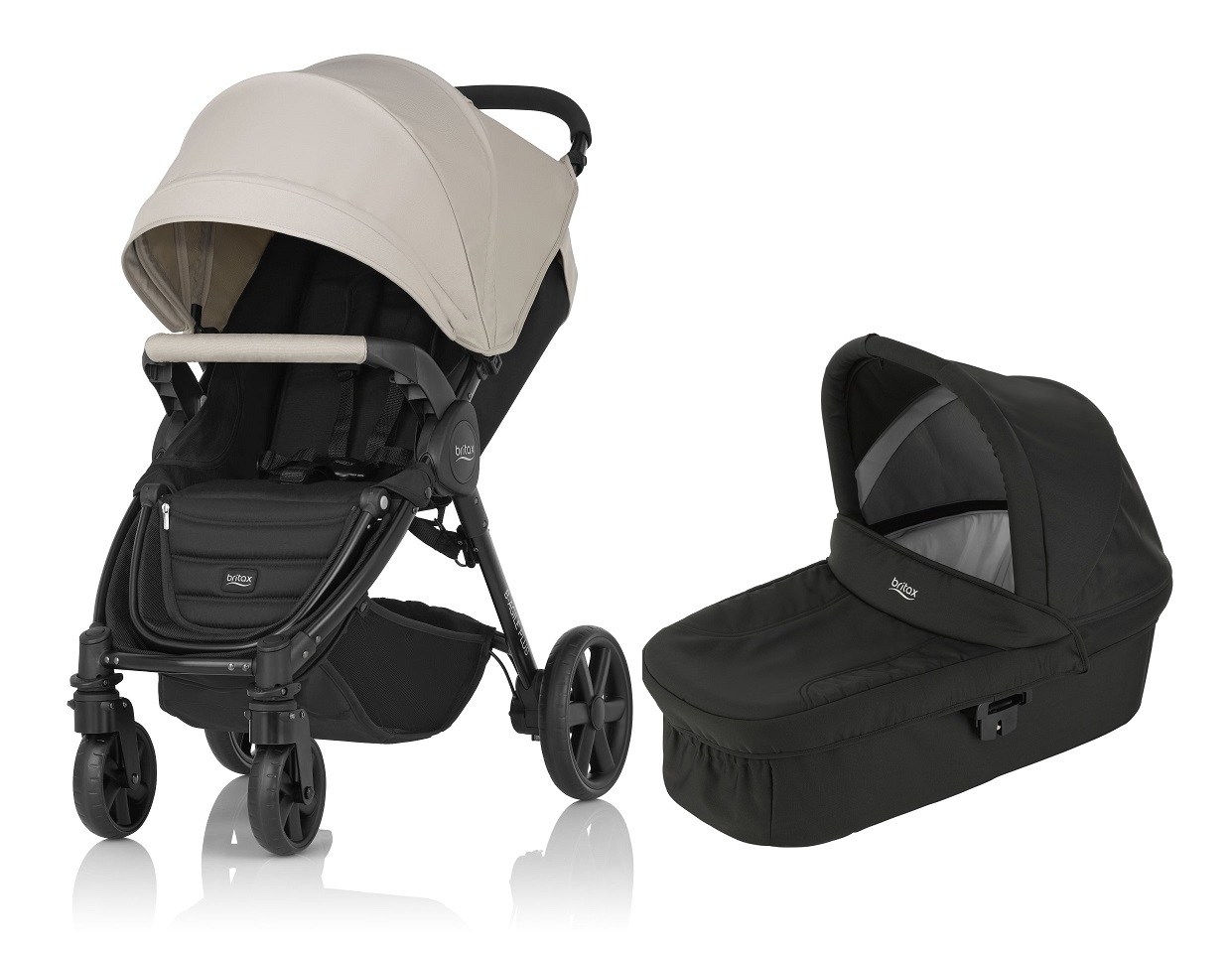 Britax b agile 4 plus inkl. canopy pack   hard carrycot ...