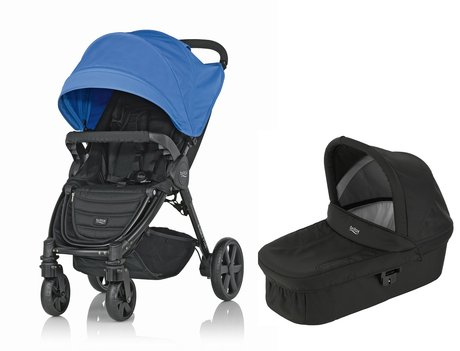 Britax B-Agile 4 Plus incl. Canopy Pack + Hard Carrycot Ocean Blue 2016 - large image