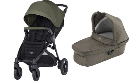 Britax B-Motion 4 Plus inkl. Canopy Pack + Hard Carrycot Olive Green 2019 - Großbild