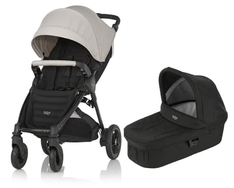 Britax B-Motion 4 Plus inkl. Canopy Pack + Hard Carrycot Sand Beige 2018 - Großbild