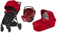 Britax B-Motion 4 Plus incl. Canopy Pack + Carrycot Attachment + infant carrier - Britax B-Motion 4 Plus incl. Canopy Pack + Carrycot Attachment + infant carrier – Being flexible on the go won't be a problem with this set by Britax Römer anymore.