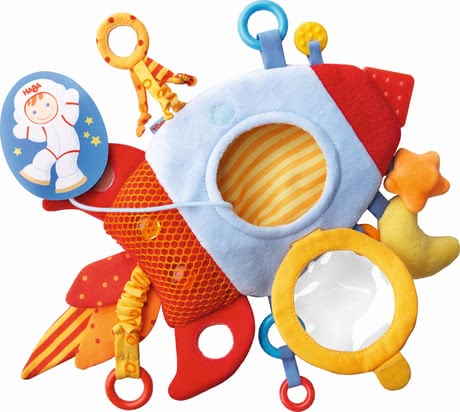 "Haba Teether Cuddly ""Rocket"" - Haba Teether Cuddly ""Rocket"" – This articles includes a teething component and provides a lot to discover."