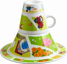 "Haba tableware tower ""On the Farm"" - Haba tableware tower ""On the Farm"" – A great picture will be created when you child puts together this tableware tower by Haba."