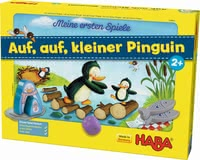 "Haba My first games ""Let's go, little penguin"" - Haba My first games ""Let's go, little penguin"" – A cute cube game with large wooden figures."