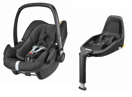Maxi Cosi Babyschale Pebble Plus inkl. 2Way Fix Nomad Black 2019 - Großbild