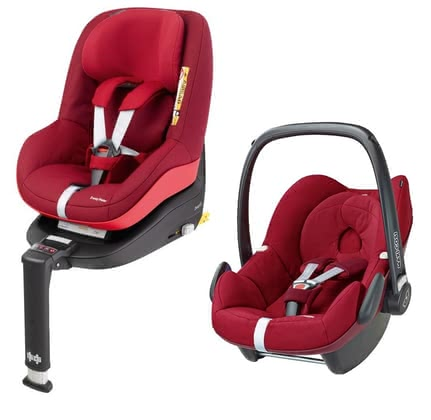 Maxi-Cosi infant carrier Pebble incl. 2WayPearl+2Way Fix Base Robin Red 2017 - large image