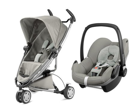 Quinny 儿童推车 Zapp Xtra 2.0,含Maxi Cosi 婴儿提篮 Pebble Grey Gravel 2016 - 大圖像