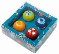 Haba disocvery balls, set of 4 - Haba disocvery balls, set of 4 – A great addition to the Haba tracks.
