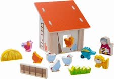 Haba play world grandma Laura's chicken coop - Haba play world grandma Laura's chicken coop – Easily built up for a lot of fun.