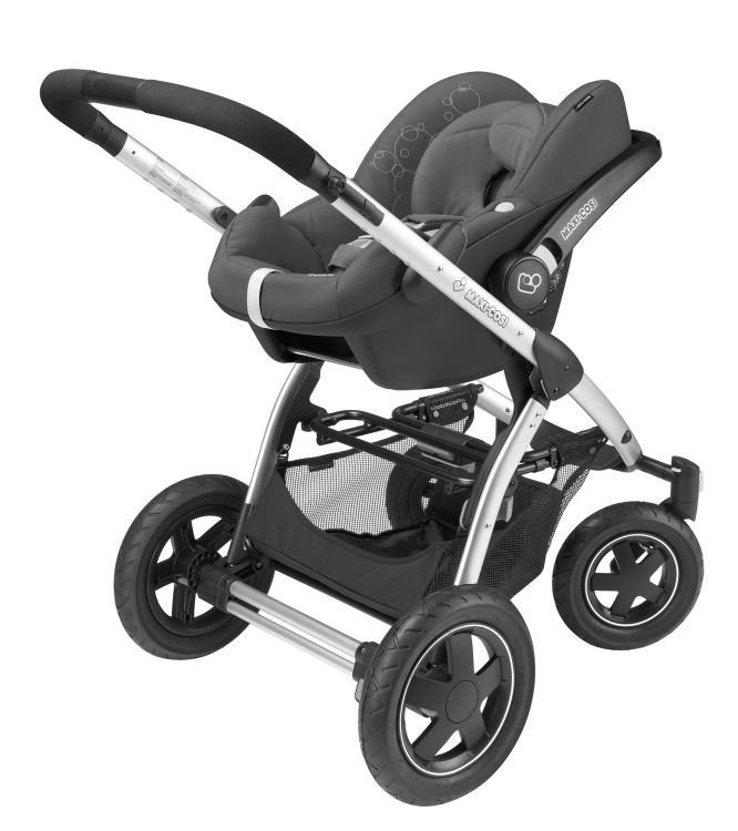 maxi cosi mura plus 4 inkl kinderwagen aufsatz babyschale pebble 2016 concrete grey online. Black Bedroom Furniture Sets. Home Design Ideas