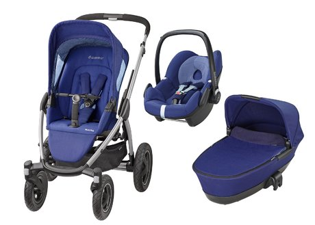 Maxi-Cosi Mura Plus incl. carrycot attachment + infant carrier Pebble River Blue 2016 - large image