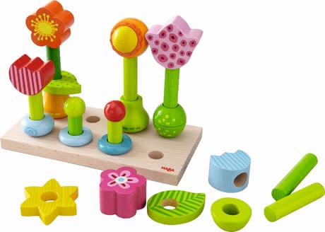 Haba pegging game flower garden - Haba pegging game flower garden – This game is fun and supports the fine motor skills.