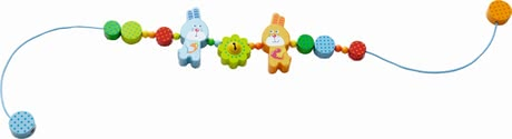 "Haba Kinderwagenkette ""Hase Flipps Freunde"" - The HABA pram chain ""Bunny of Flipps friends"" is a beautiful accessory for the stroller or infant carrier."