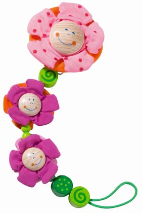 Haba pacifier chain Blossoms - Haba pacifier chain Blossoms – This pacifier chain has the most beautiful colours ever and the aspirator will always be at hand.
