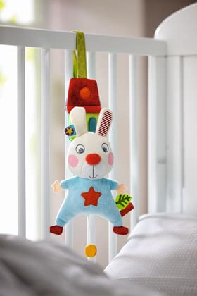 "Haba musical box ""Bunny Flip"" - Haba musical box ""Bunny Flip"" – This cute hanging figure has the popular lullaby La-Le-Lu."