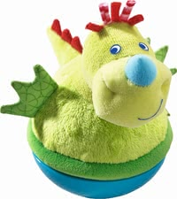 Haba roly-poly dragon - Cute Selfstabilizing figure Dragon by HABA with fluffy surface. Uuaa-grrr, I'm the little Selfstabilizing Dragon!
