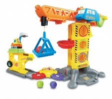 Vtech choo choo building crane - This toy is a lot of fun because it helps to imitate a real construction site.