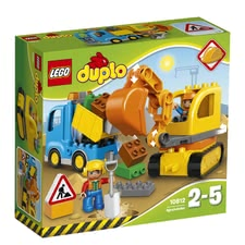 LEGO Duplo digger & lorry - LEGO Duplo digger & lorry – A great set for digging and having fun.