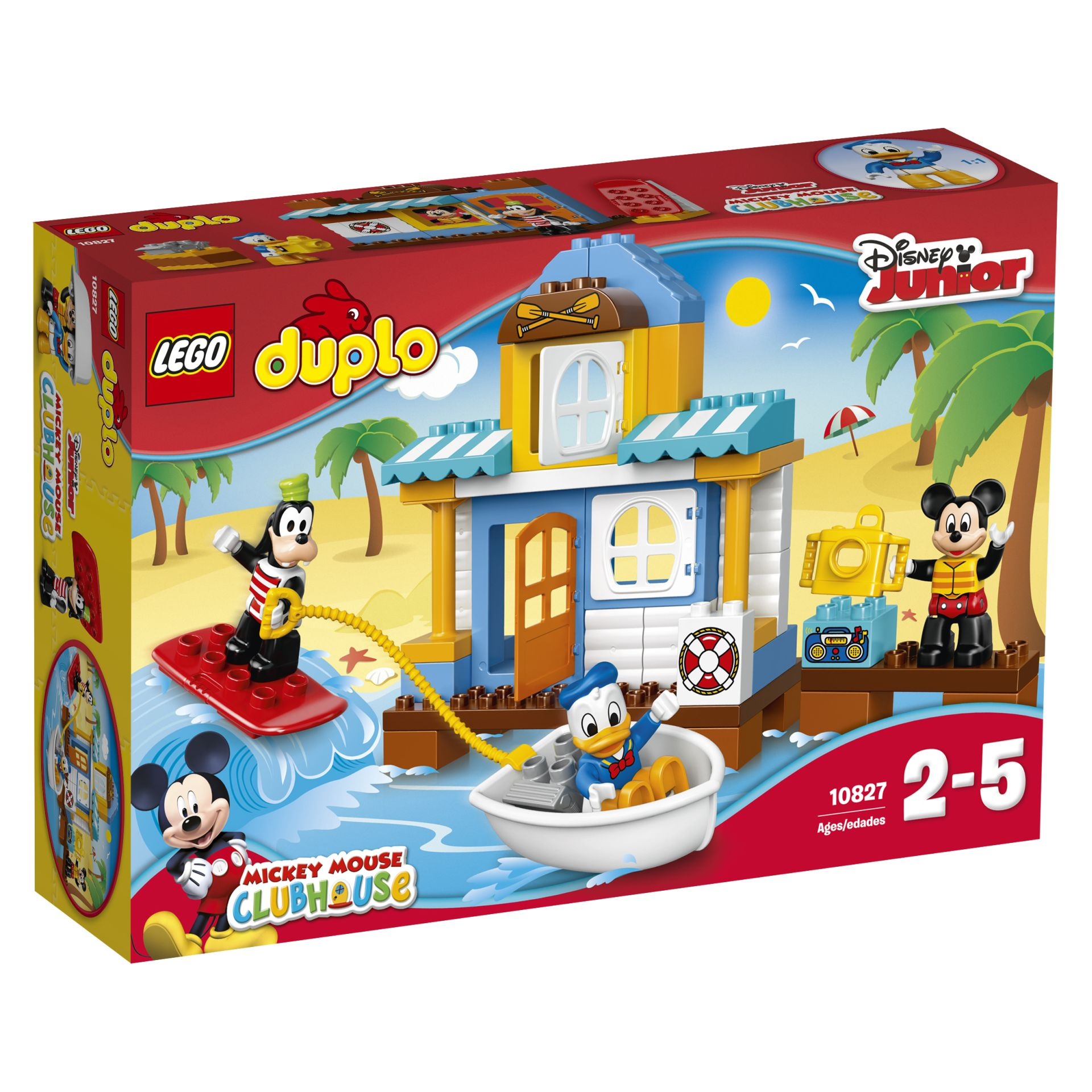 lego la maison de plage de mickey de duplo disney 2017 acheter sur kidsroom jouet. Black Bedroom Furniture Sets. Home Design Ideas