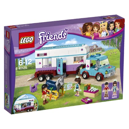 LEGO Friends horse trailer with accessories and veterinary -