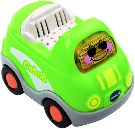 Vtech cabrio - Who's not dreaming of doing quick laps in a green cabrio.