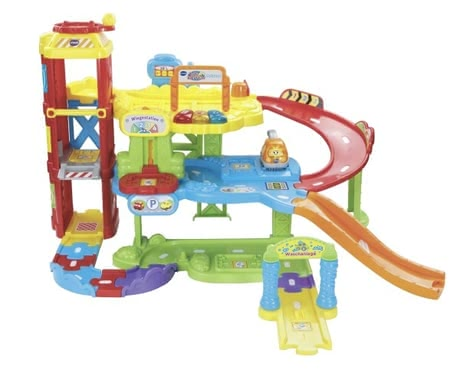 Vtech parking garage - The parking garage by Vtech surprises with music and playful elements.
