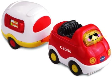 VTech cabrio with caravan - Start your camping holiday with this cabrio and the caravan.