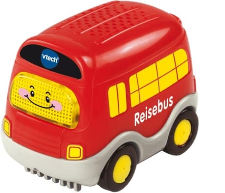 Vtech bus - This bus supports the hearing and fine motor skills with a bright button and music.