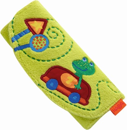 Haba seatbelt pad Zipping Frog - Haba seatbelt pad Zipping Frog – This article prevents scratching or pressing the seatbelt.