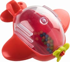 Haba firefighting plane - The bright red firefighting plane provides a lot of fun during bath time.