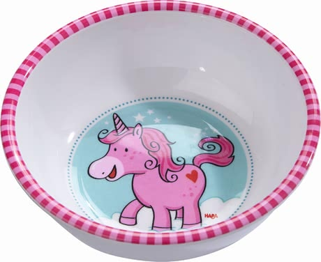 Haba bowl unicorn glitterluck - The bowl is perfect for soup and mash.