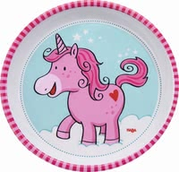 Haba plate unicorn glitterluck - The cute little plate will be perfect for your little one.