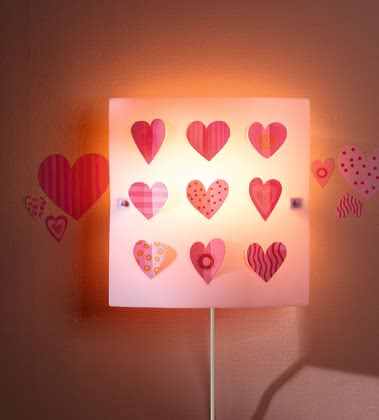 Haba heart wall light 2017 - large image