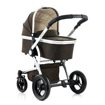 Moon stroller Cool with aluminium carrycot brown - melange 2017 - 大图像