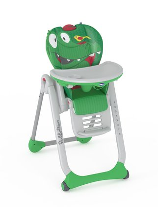 Chicco high chair Polly 2 Start Crocodile 2017 - large image