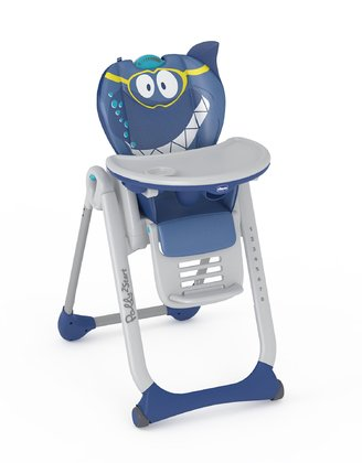 Chicco high chair Polly 2 Start Shark 2017 - large image