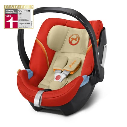 Cybex Babyschale Aton 5 Autumn Gold - burnt red 2018 2018 - Großbild