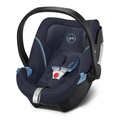 Cybex Infant Car Seat Aton 5 Navy Blue - navy blue 2020 - large image